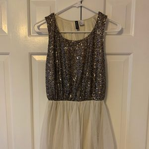 H&M Sequin and Tulle Evening Dress